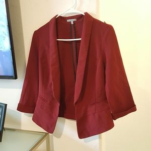 Burgundy Wine Professional Work Blazer M Fitted